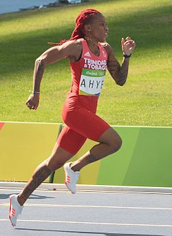 Ahye Wins 100m at Open Track for 4th Year