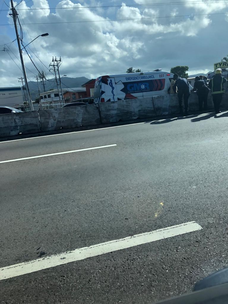 Accident on CR Highway Near Courts Mega Store