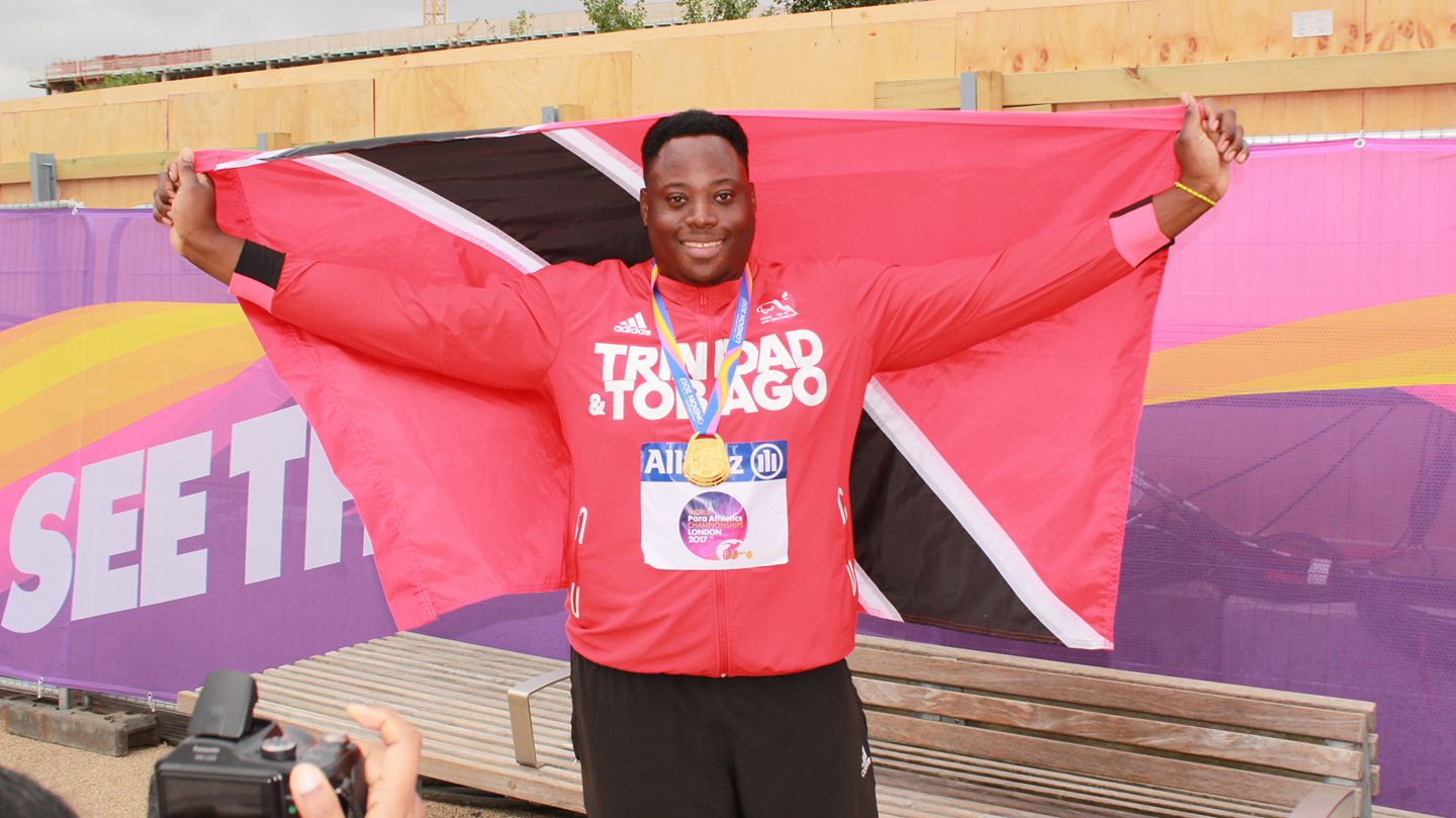 Akeem Stewart Takes Gold in the Discus at Parapan