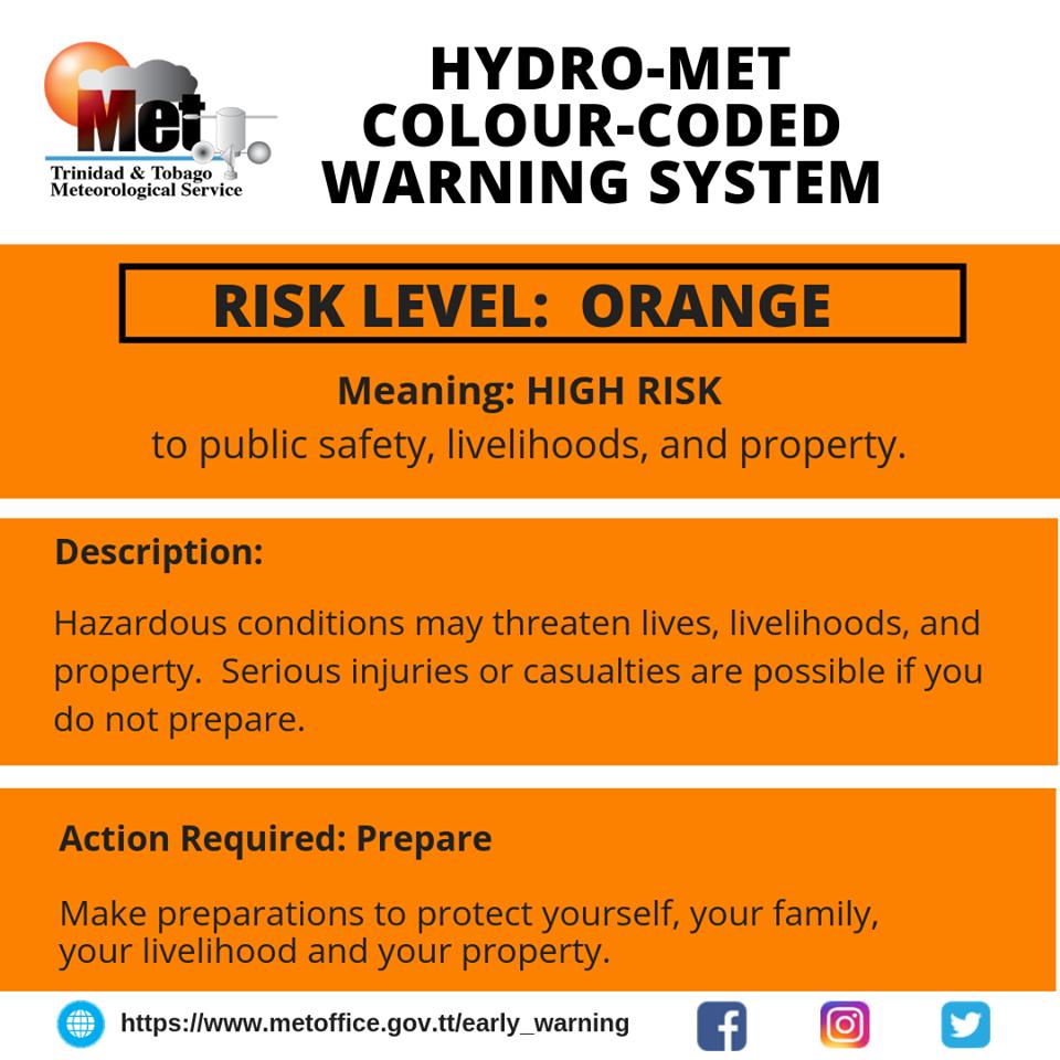 High Risk: Met Service Moves Alert to Orange Level