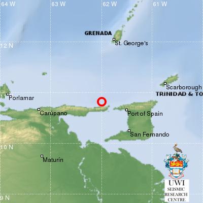 4.3 Magnitude Earthquake Shakes Trinidad on Tuesday