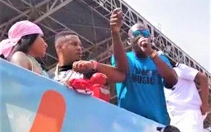 Nicki Minaj Apologises for Husband Elbowing Iwer