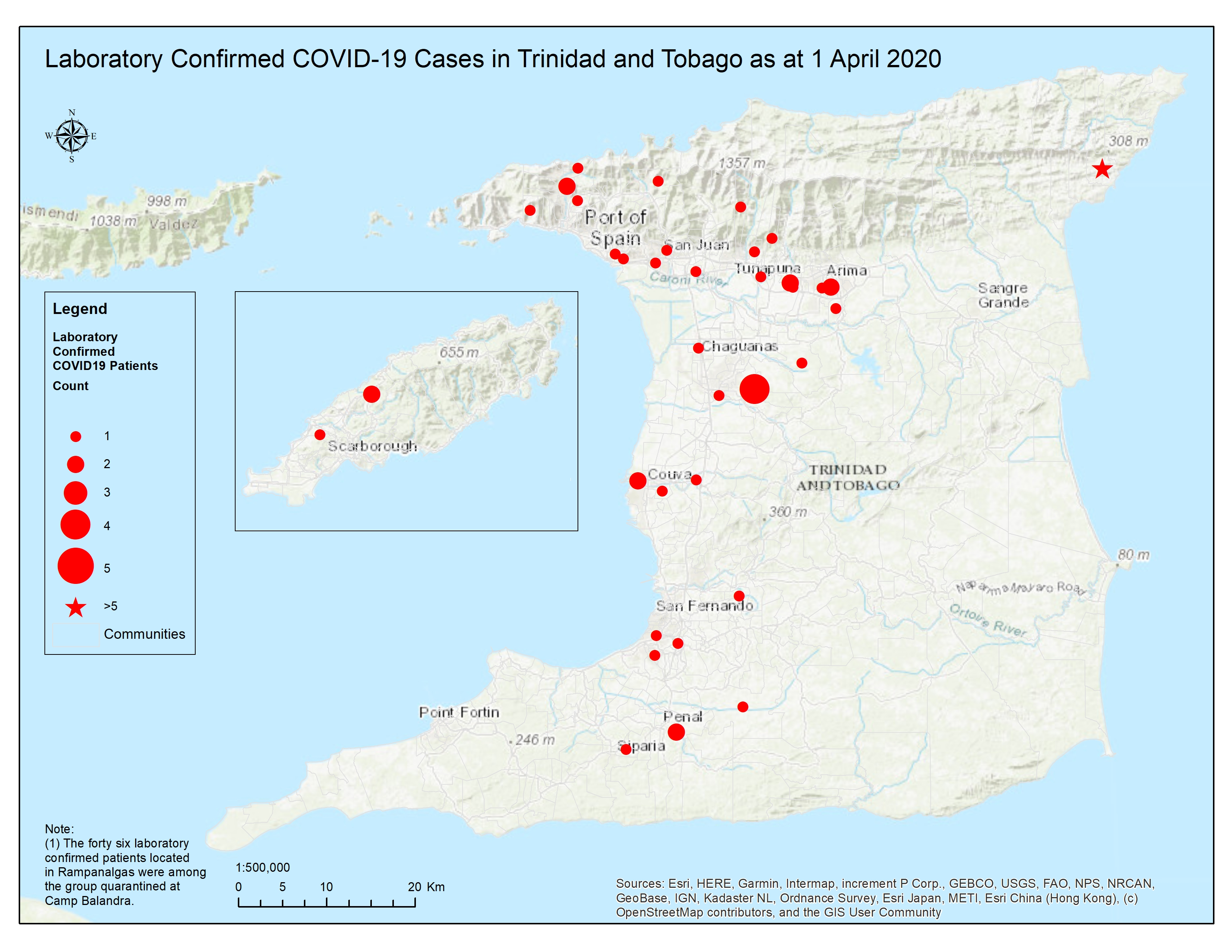 Picture of: Map Shows Most Covid 19 Cases In West Trinidad Azp News