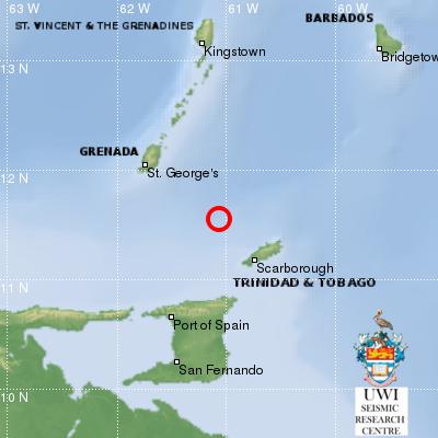 5.3 Magnitude Earthquake Rocks Tobago, Grenada