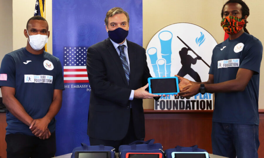 US Embassy Donates Tablets to Students