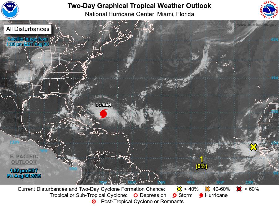 Category 3 Dorian Heads to Bahamas, Florida