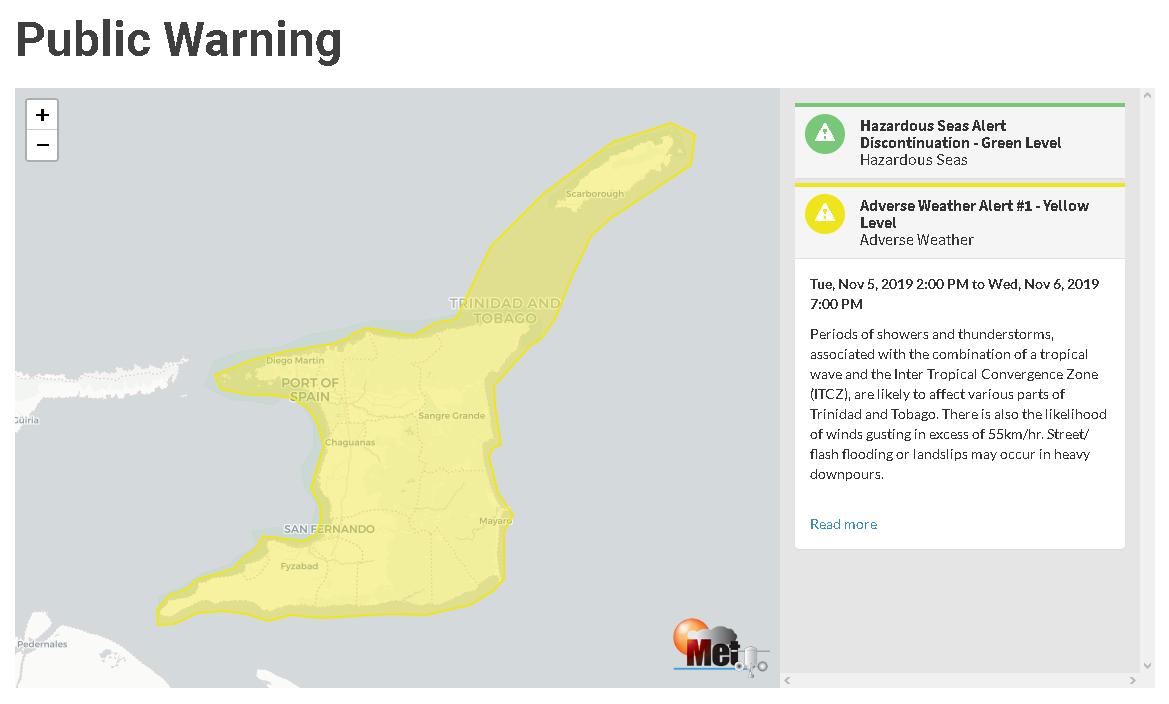 Bad Weather for Trinidad, Tobago