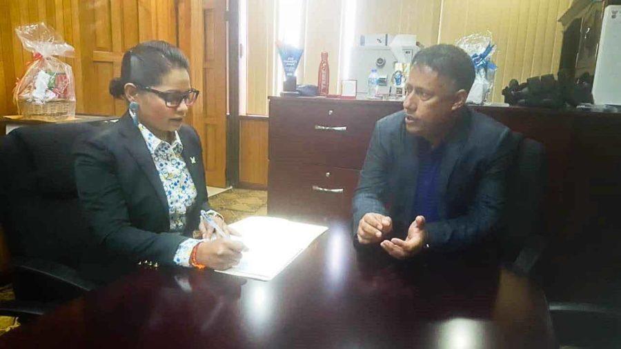 Top Cop Visits Chaguanas Mayor
