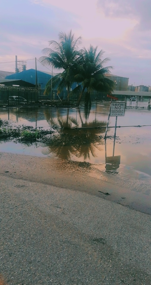 Flooding in Point Fortin After Old Refinery Tank Fails