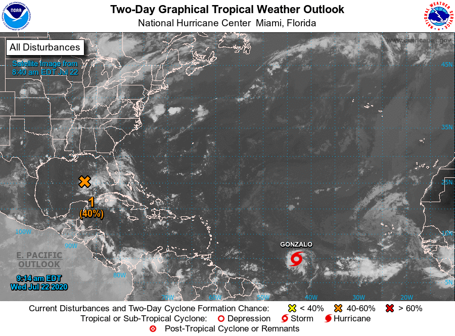 Tropical Storm Gonzalo Forms in Atlantic