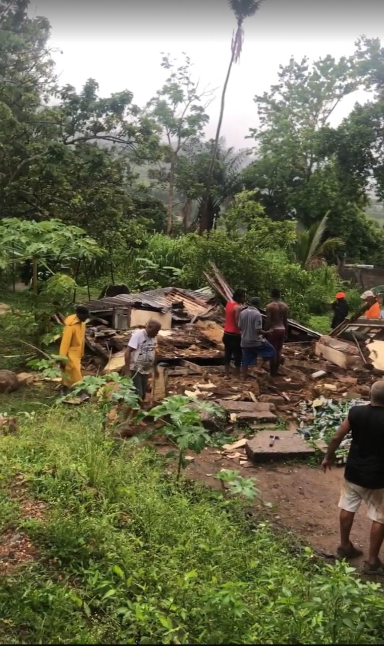 Bad Weather Destroys House at Calvary Hill