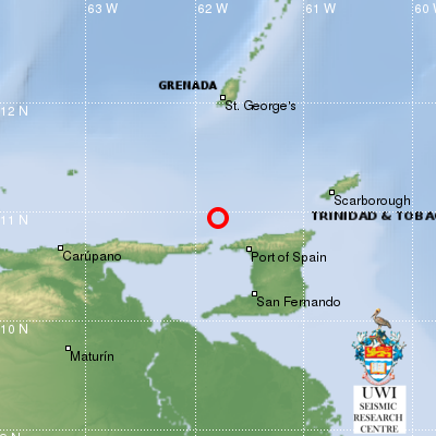 4.5 Magnitude Earthquake Hits Trinidad