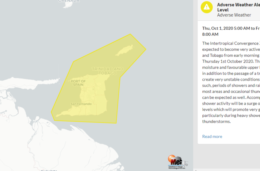 Adverse Weather Alert from Thursday Morning