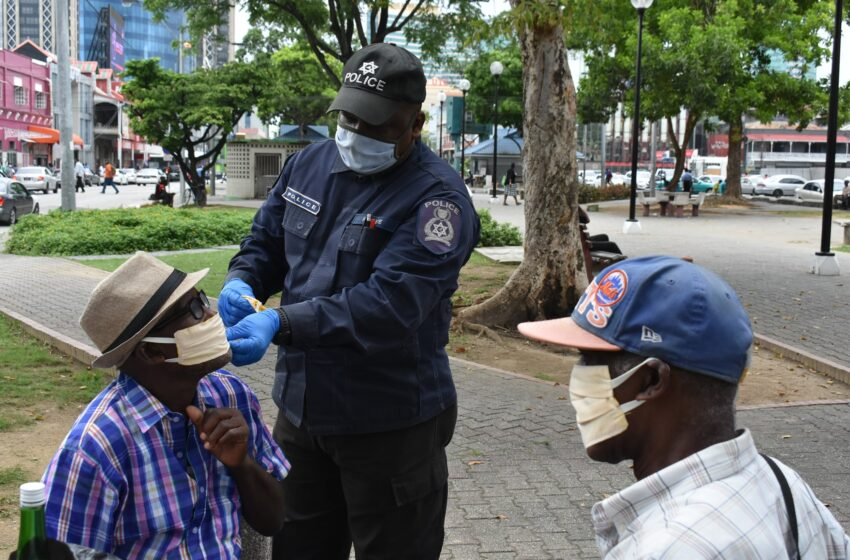 Police Give Masks to the Homeless