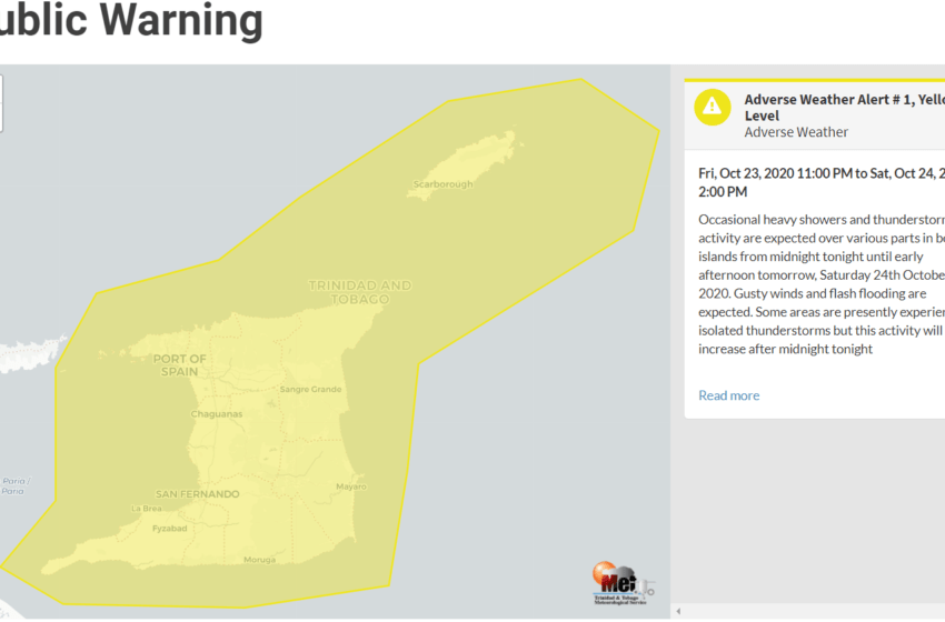 T&T on Yellow Weather Alert