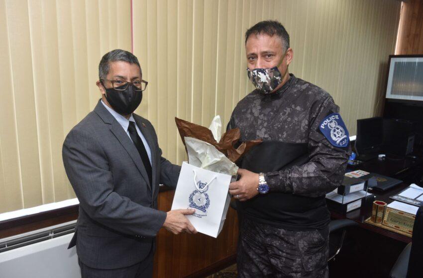 Top Cop Meets with Venezuela Ambassador  Ver la historia en Español abajo