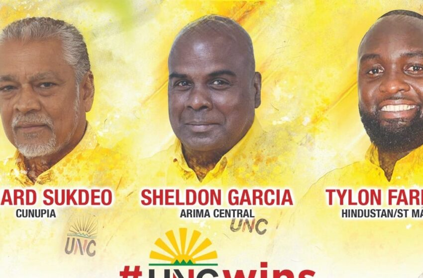 UNC Takes 3 of the 5 Local Government Seats  By-Elections Show Opposition Party Gains Ground