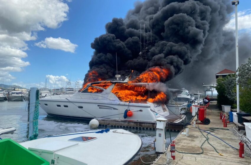 Fire Destroys 2 Boats at Yacht Club