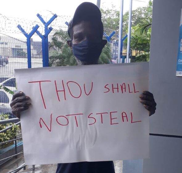 Guilty Man To Hold Sign in Front of Police Station for 3 Days