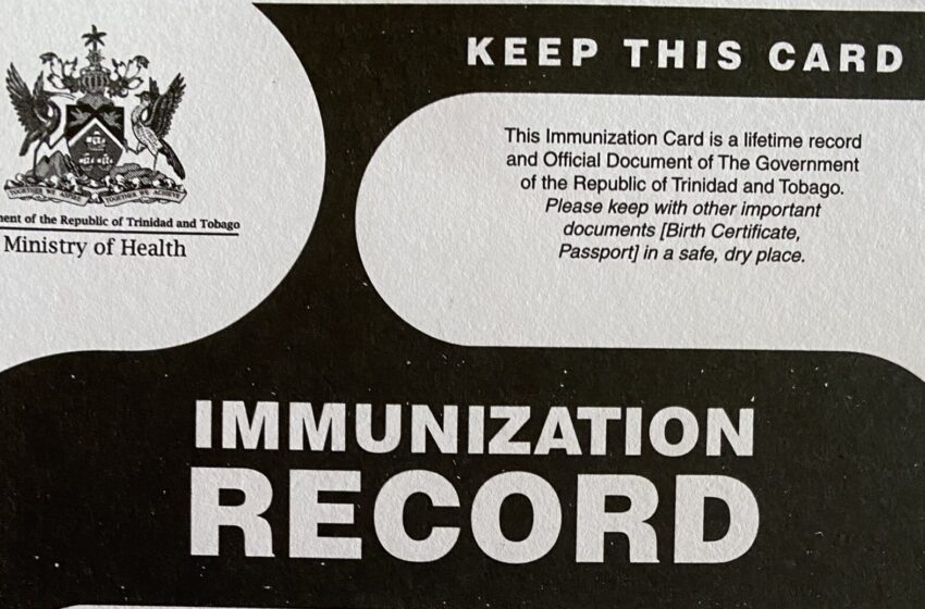 Immunization Cards Must be Stamped