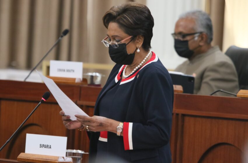 Kamla Gets To Debate Vaccine Chaos  Speaker Allows Matter on Adjournment of the House at 6pm