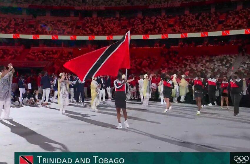 Kelly-Ann Baptiste Waves Flag for Team TTO