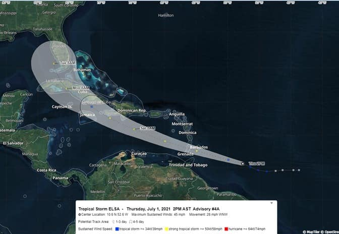 Adverse Weather Alert for T&T